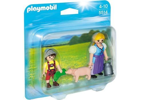 Playmobil Country 5514 Farm Woman and Boy Duo Pack